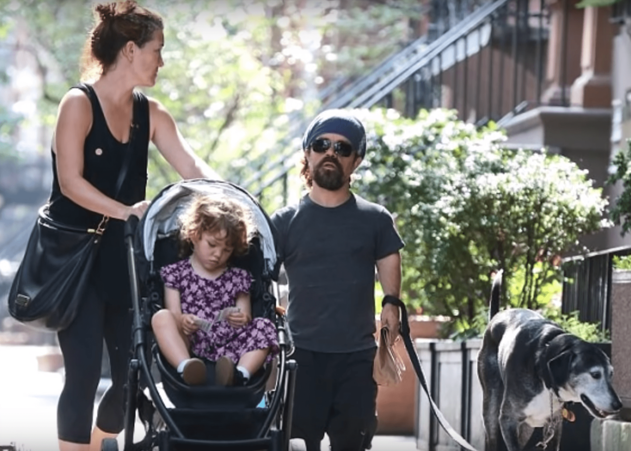 Peter Dinklage with his family.   Source: YouTube/Ajax