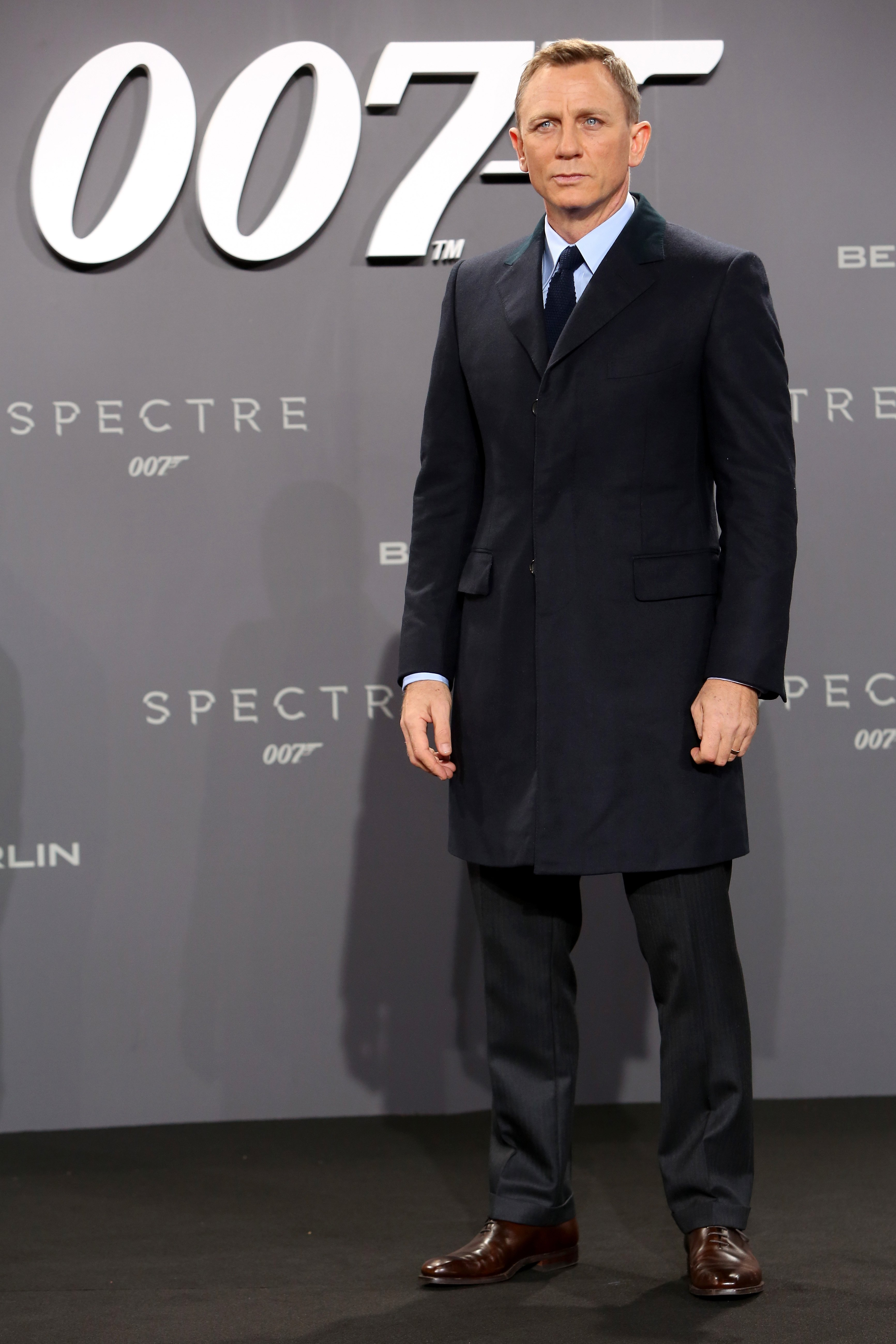 Actor Daniel Craig attends the German premiere of the new James Bond movie 'Spectre' at CineStar on October 28, 2015 in Berlin, Germany. | Source: Getty Images