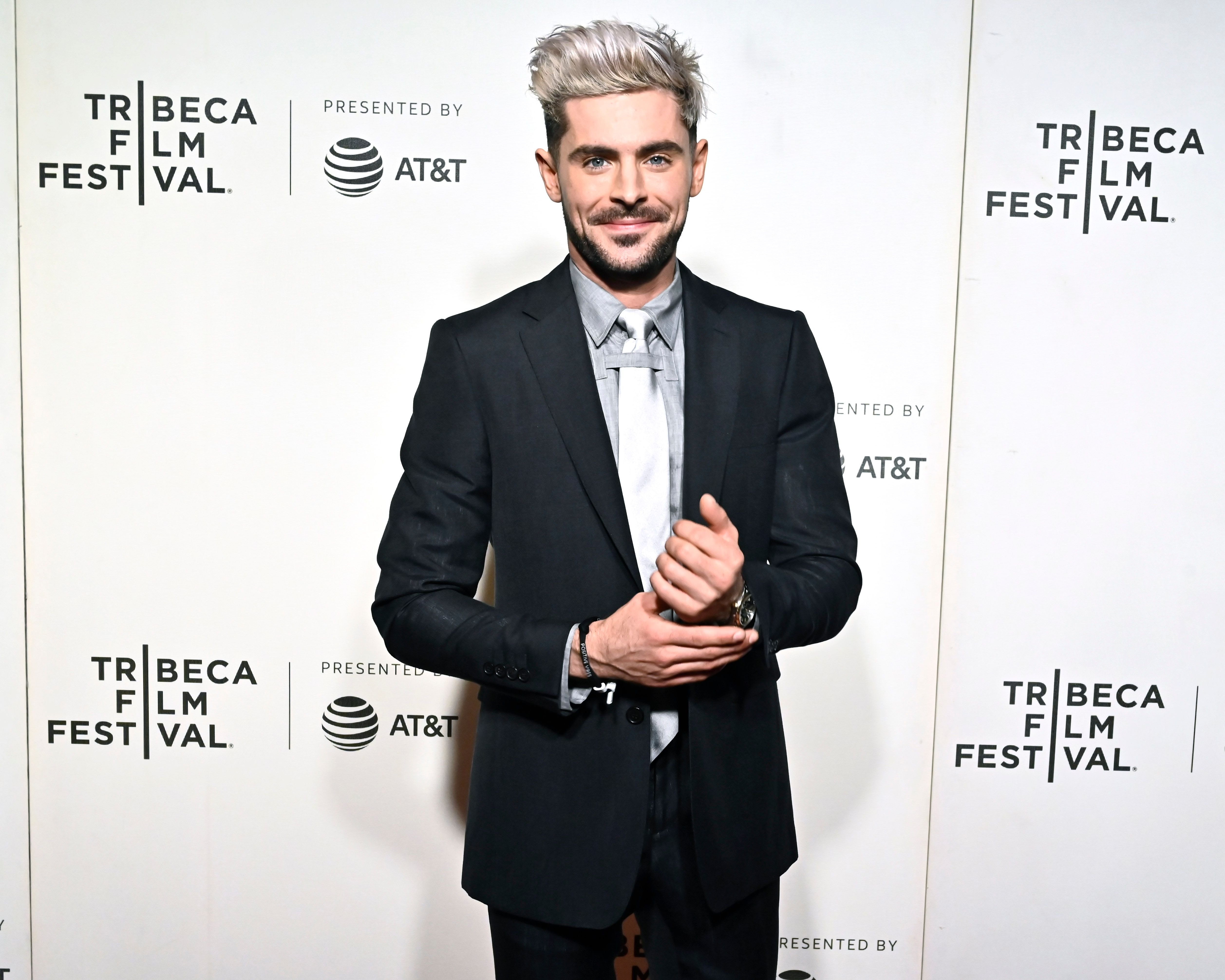 "Zac Efron at Netflix's ""Extremely Wicked, Shockingly Evil and Vile"" Tribeca Film Festival Premiere at BMCC Tribeca Performing Arts Center on May 02, 2019 
