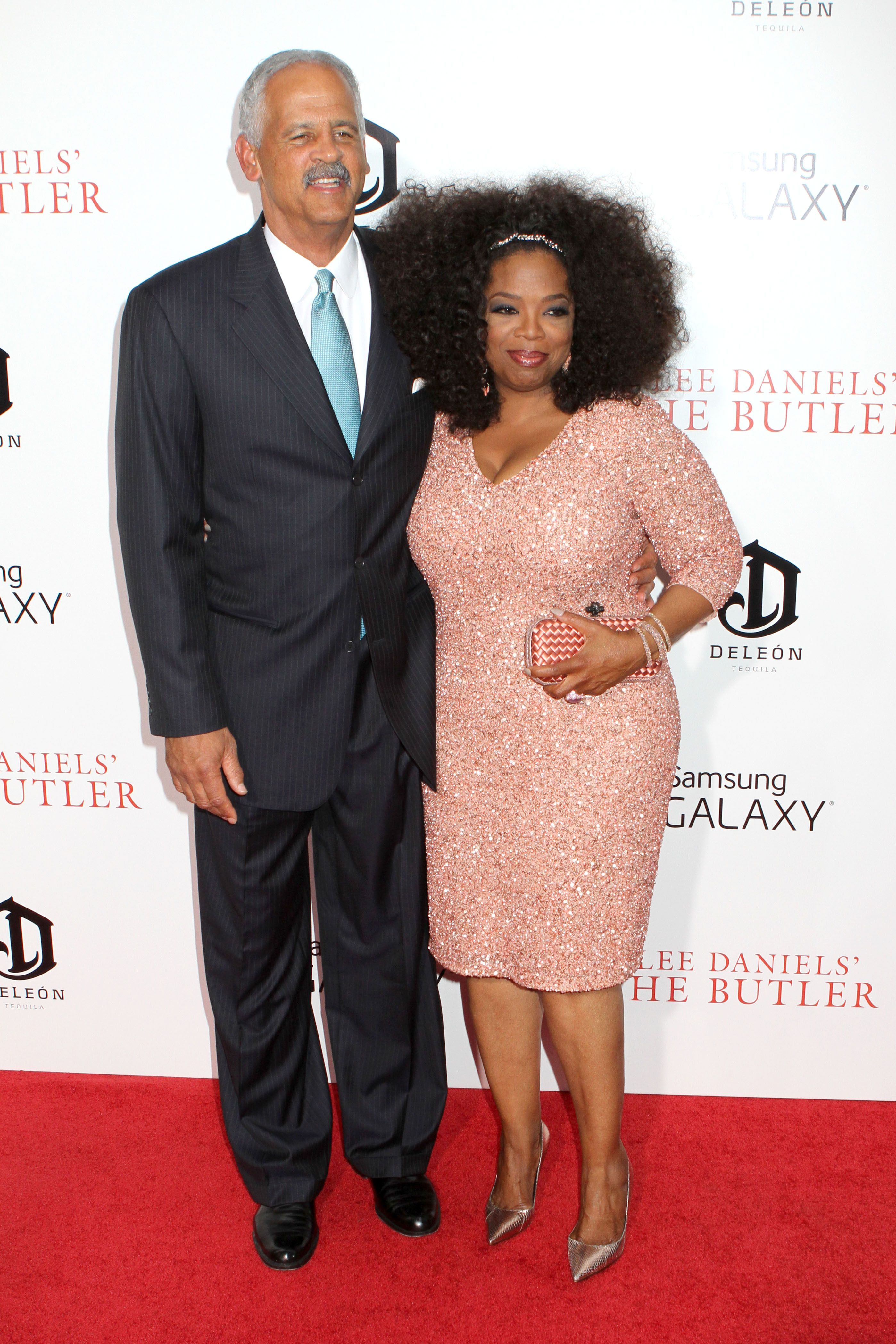 "Stedman Graham and Oprah Winfrey attend the premiere of ""The Butler"" at the Ziegfeld Theatre. 