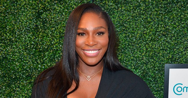 Serena Williams Puts Her Assets on Display in a $50.00 Ruched Bodycon Dress Posing near Huge Painting