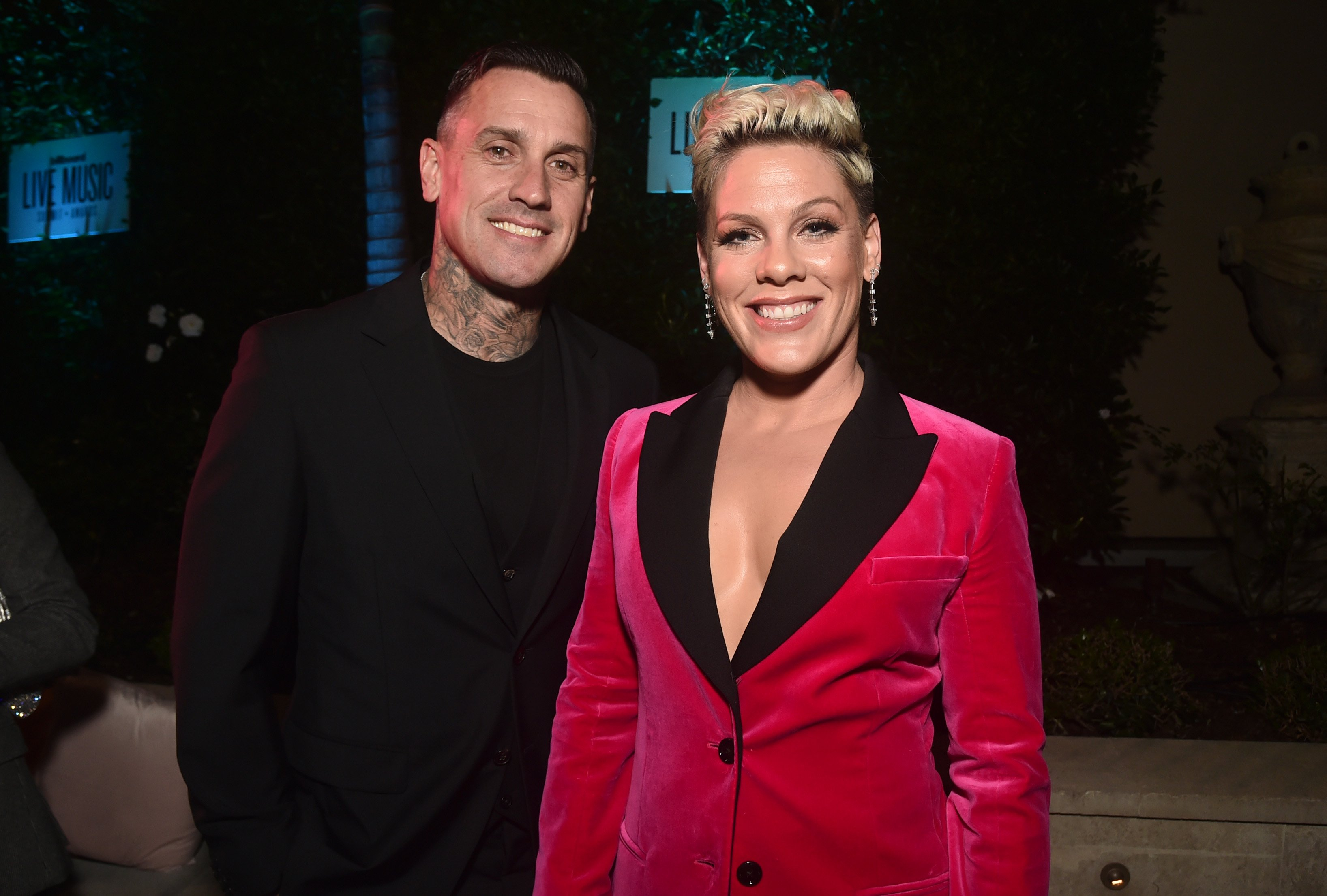Carey Hart and Pink on November 05, 2019 in Beverly Hills, California | Photo: Getty Images