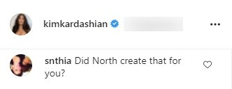 Screenshot of fan's comment on a picture posted by Kim Kardashian on Instagram | Photo: Instagram/kimkardashian