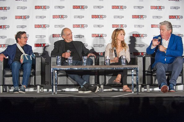 Michael J. Fox, Christopher Lloyd, Lea Thompson and Tom Wilson at Metro Toronto Convention Centre on August 31, 2018 in Toronto, Canada. | Photo: Getty Images