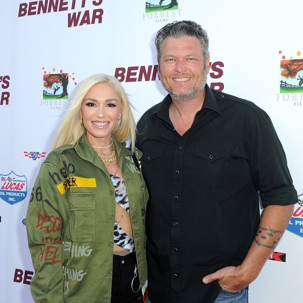 "Gwen Stefani and Blake Shelton attend ""Bennett's War"" Los Angeles Premiere on August 13, 2019 