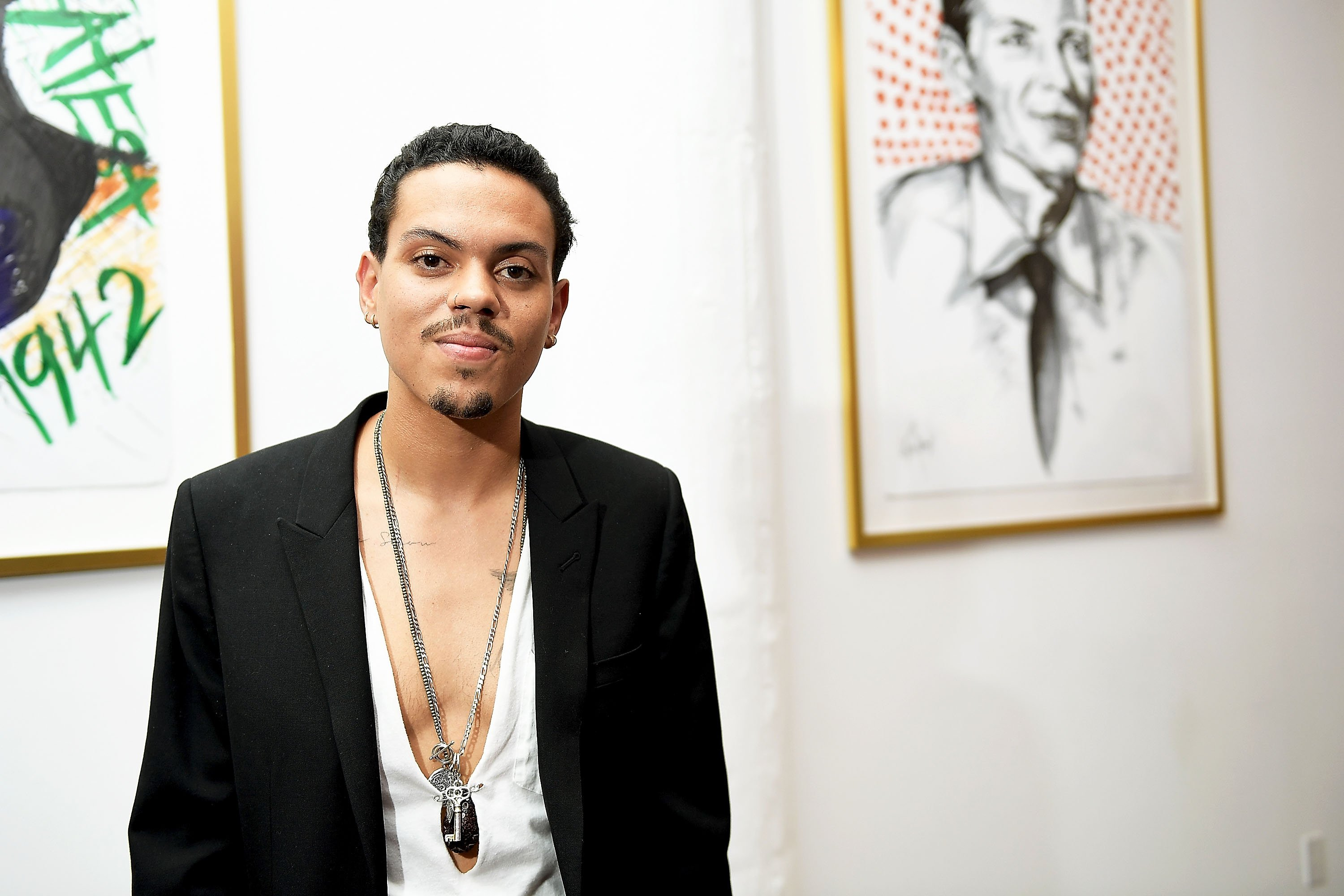 "Evan Ross at ""Art with a Cause"" in 2017 in Los Angeles, California. Source: Getty Images"