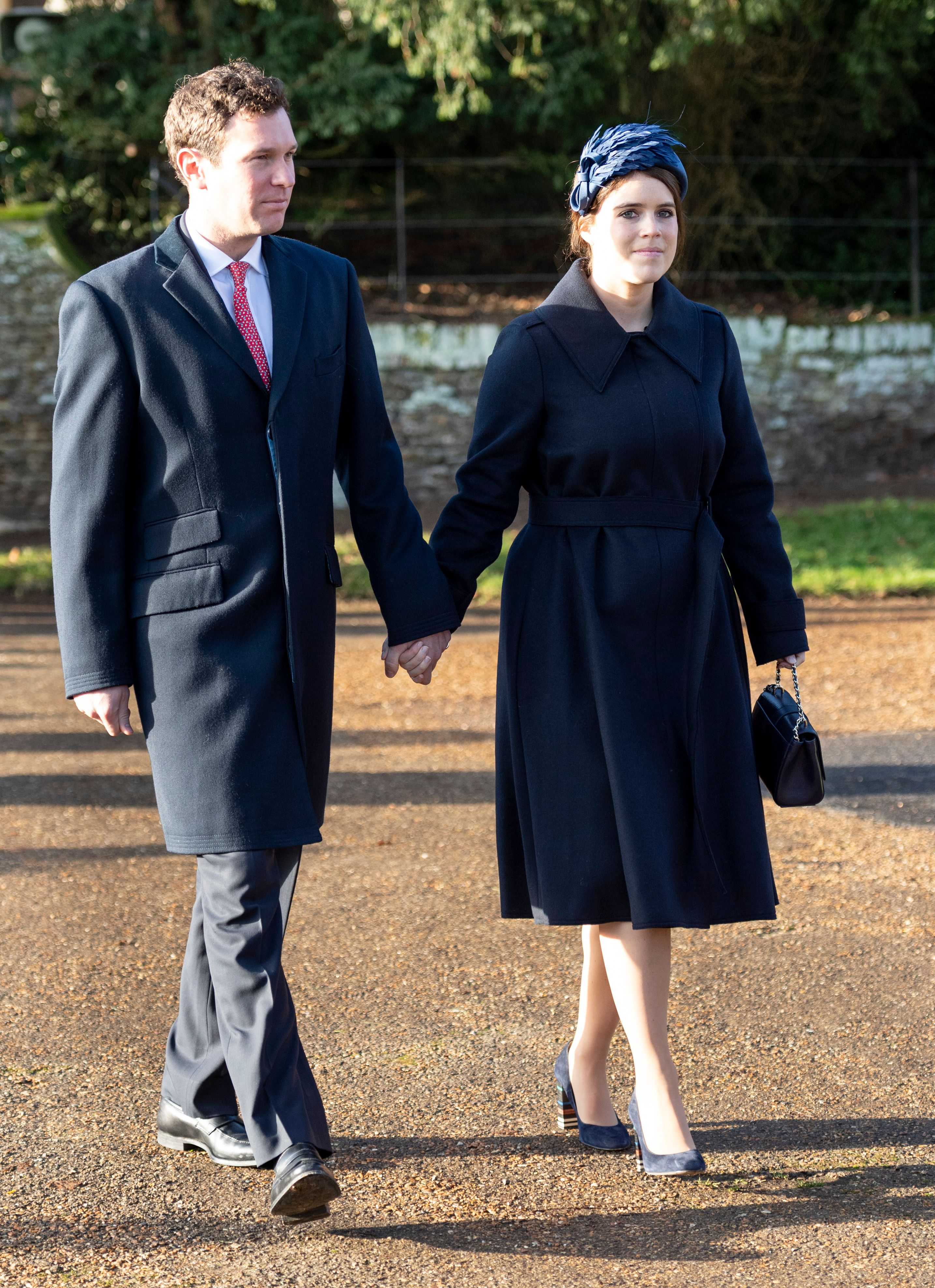 Princess Eugenie and Jack Brooksbank at the Christmas Day Church service at Church of St Mary Magdalene December 25, 2019 | Getty Images