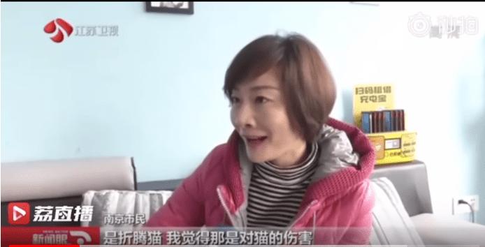 La propriétaire d'animal de compagnie chinoise qui veut que son chat se fasse opérer | Photo : Video Precede/Youtube