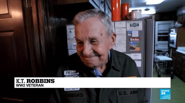 75 ans plus tard, un ancien combattant du jour J a rencontré son amour perdu depuis longtemps. Photo : Youtube/ FRANCE 24 English|