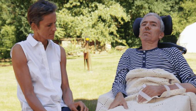 Muriel et son mari qui est malade   Photo : Télé star