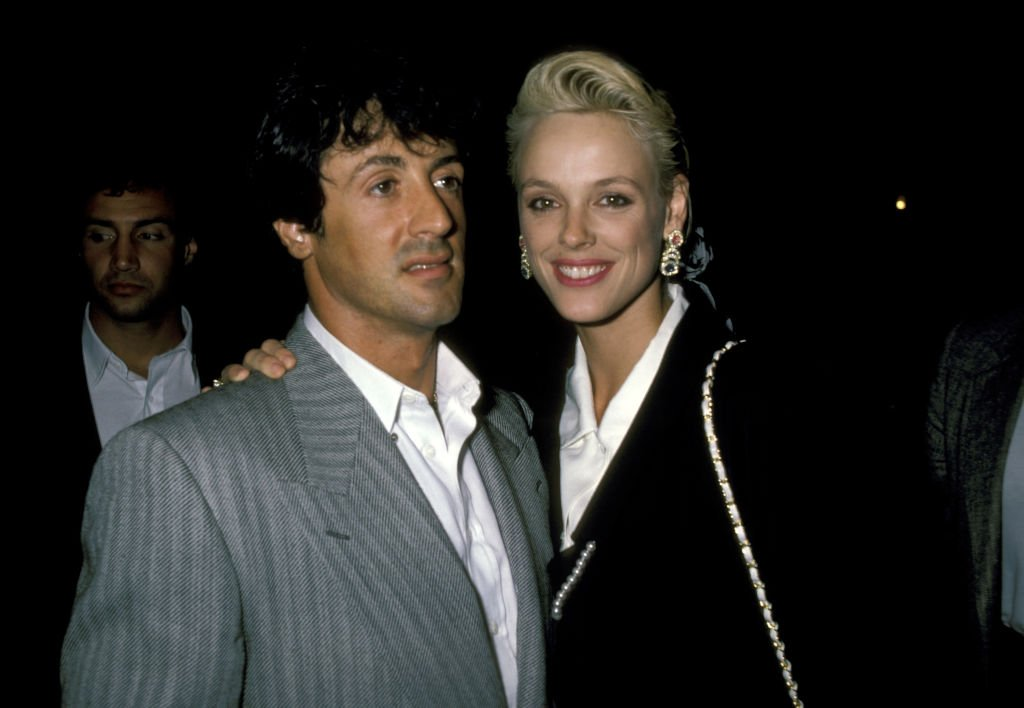 Sylvester Stallone and Brigitte Nielsen on August 20, 1986 at Longacre Theater in New York City | Photo: Getty Images