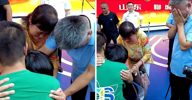 Screenshot of family being reunited. | Source: youtube.com/nowthisnews
