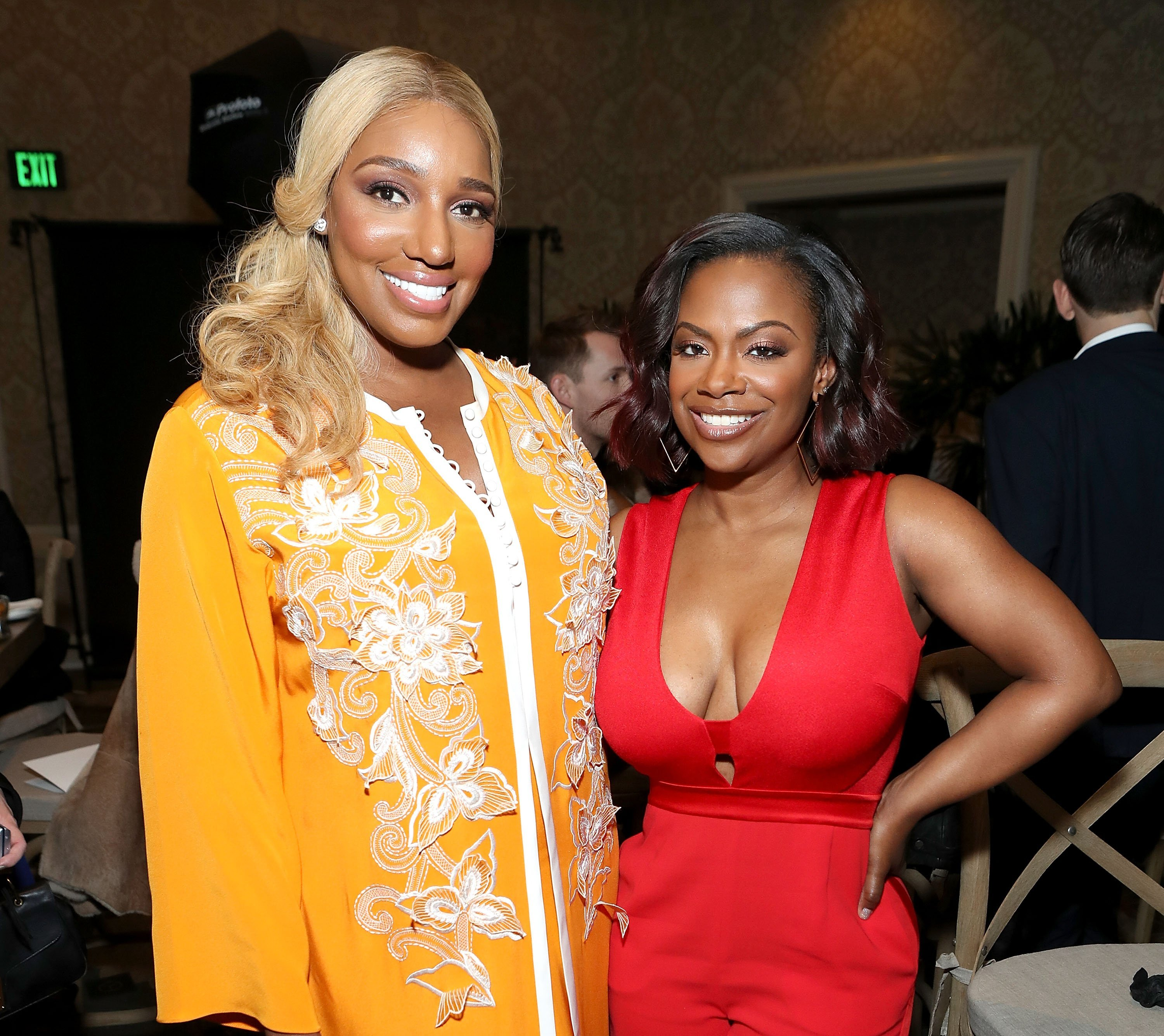 NeNe Leakes and Kandi Burruss at the Mercedes-Benz 2017 Academy Awards Viewing Party | Photo: Getty Images