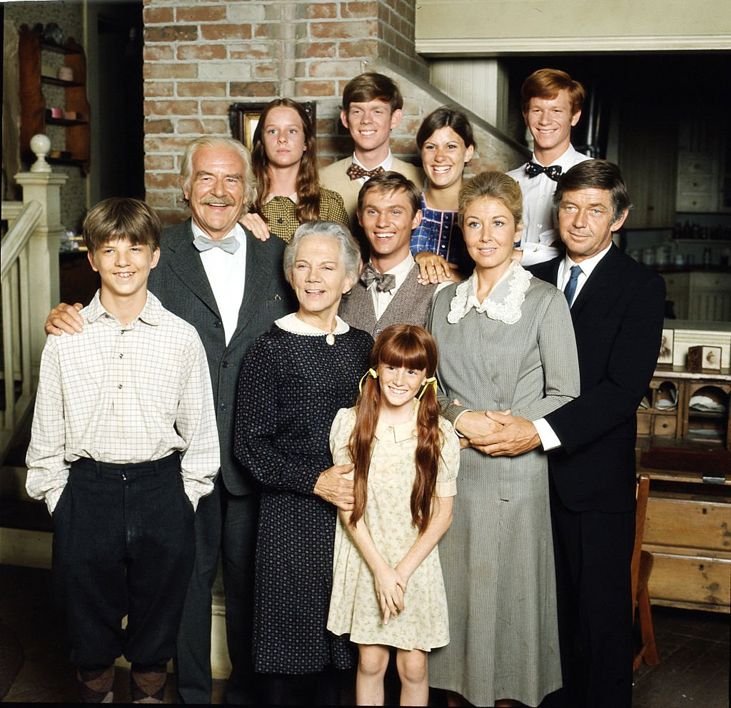 """A portrait of the cast of """"The Waltons"""" on January 1, 1977. 