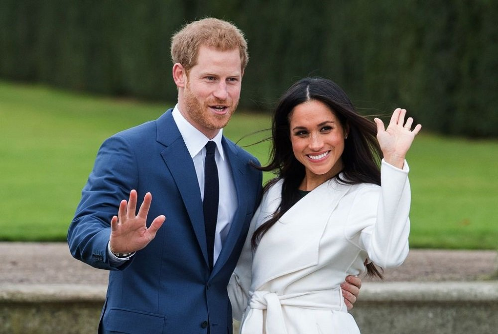 Prince Harry and Meghan Markle at a photocall in the Sunken Gardens at Kensington Palace in London, England in November 2017.   Image: Getty Images.