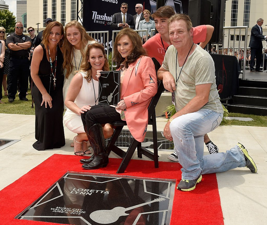 Loretta Lynn and Family attend Loretta Lynn and Jack White Induction Into The Nashville Walk Of Fame | Getty Images