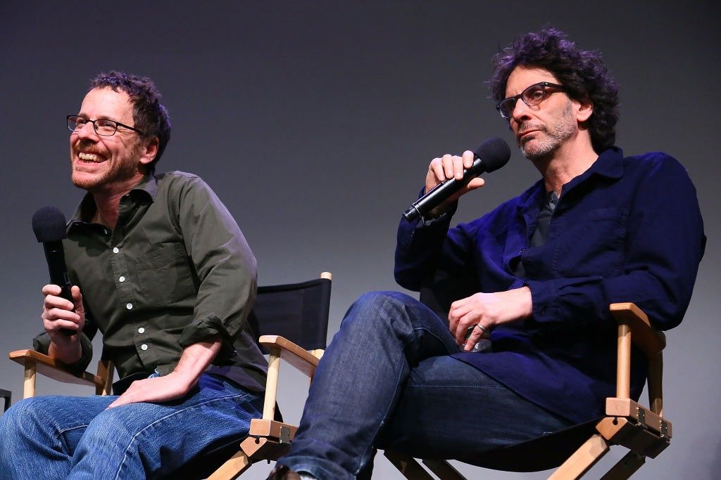 "Ethan Coen and Joel Coen speak during Meet The Filmmakers: ""Inside Llewyn Davis"" at the Apple Store Soho on November 25, 2013 