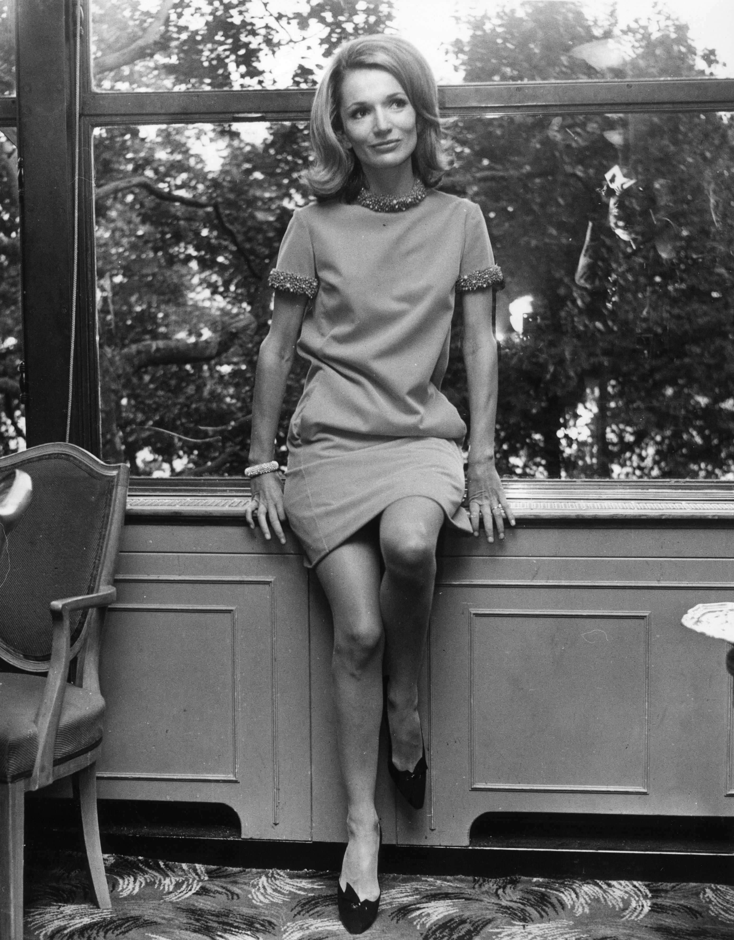 Lee Radziwill at London's Savoy Hotel | Photo: Getty Images