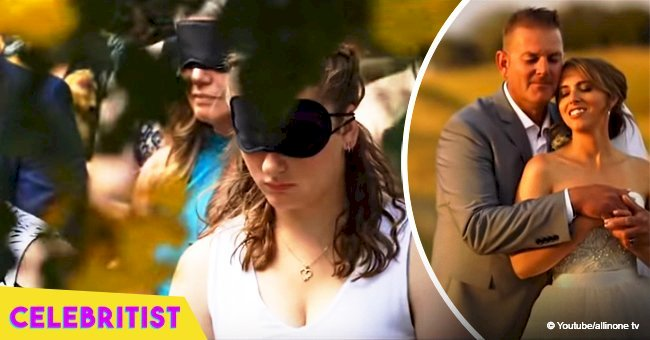 The story of how guests wore blindfolds at blind bride's wedding still touches hearts