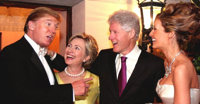 Bill and Hilary Clinton with Donald and Melania Trump at their wedding.| Photo: Flickr.