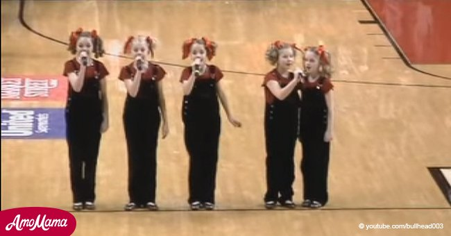 5 sisters performed the National Anthem. And we didn't hear better version before
