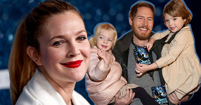 Drew Barrymore (left) and Will Kopelman with their daughters Olivia and Frankie (right) | Photos: Getty Images