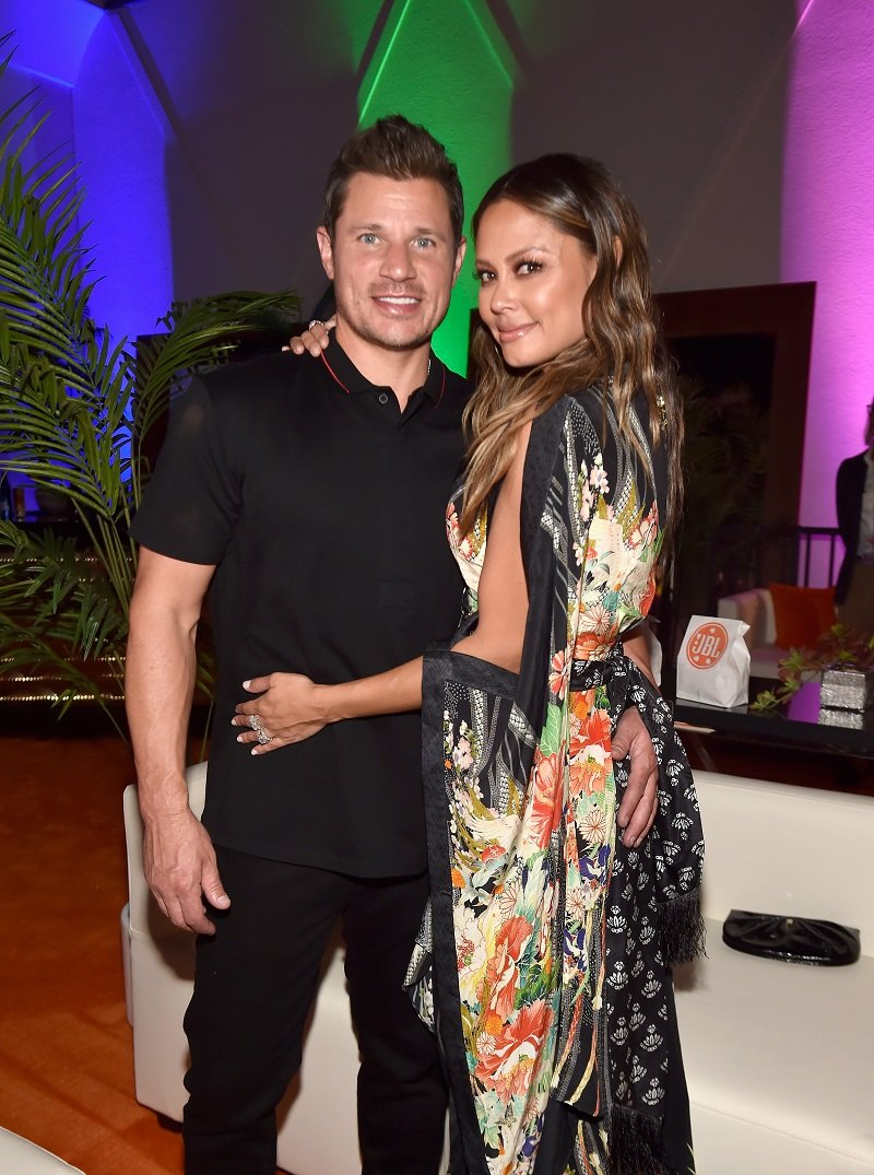 Nick Lachey and Vanessa Lachey on October 19, 2018 in Las Vegas, Nevada   Photo: Getty Images