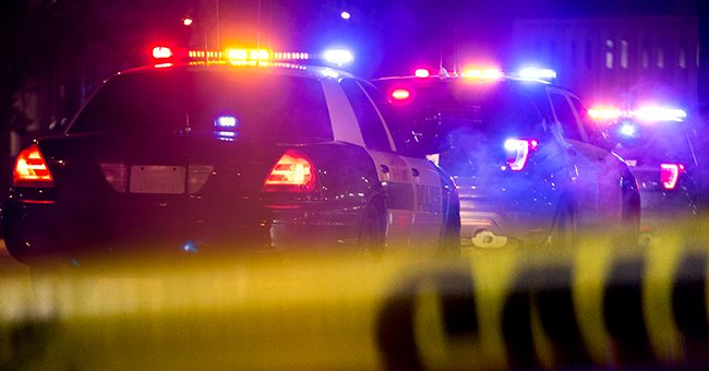 A photo of police car lights and a close up of police tape. | Photo: Getty Images