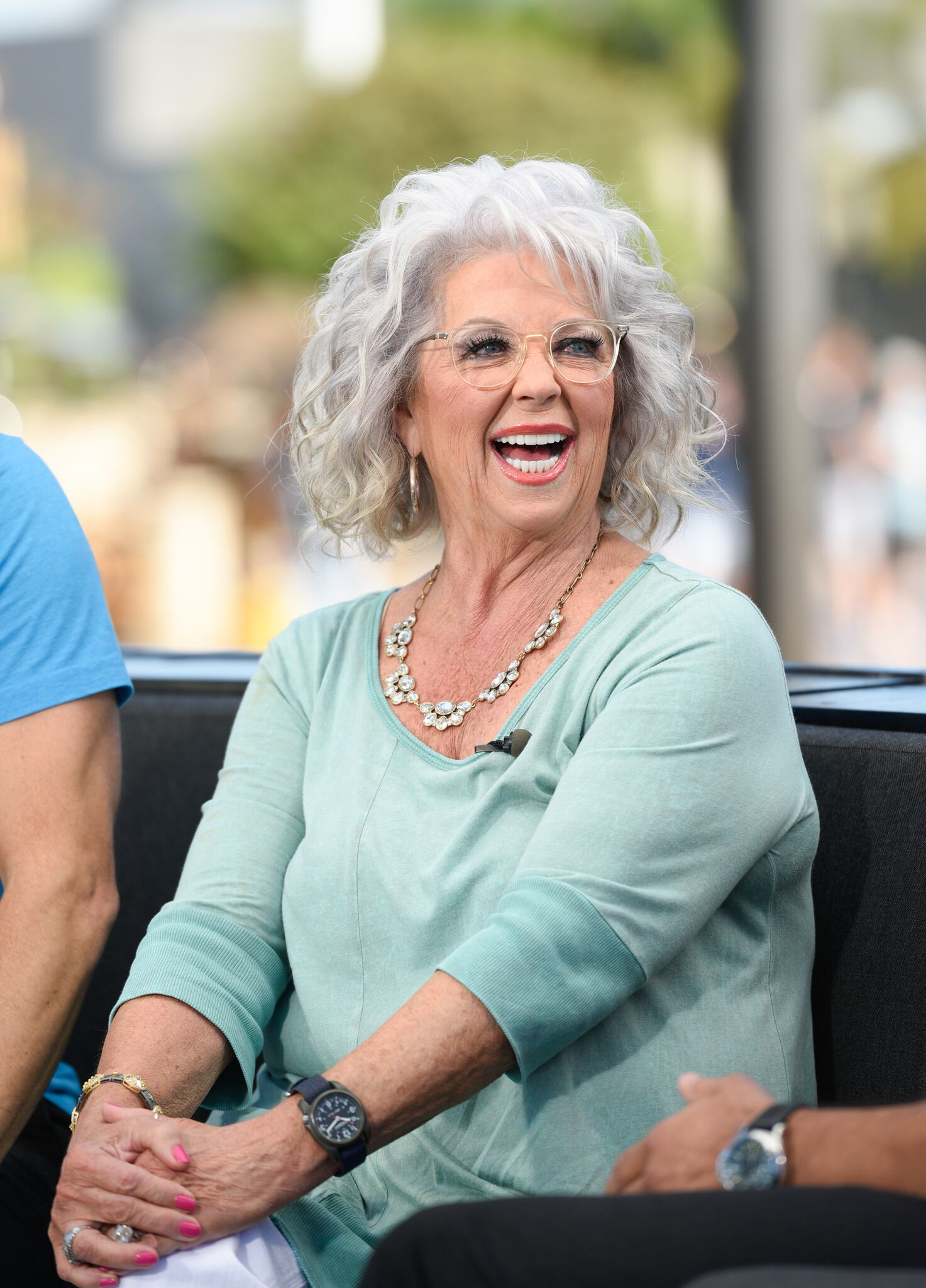 "Paula Deen visits ""Extra"" at Universal Studios Hollywood 
