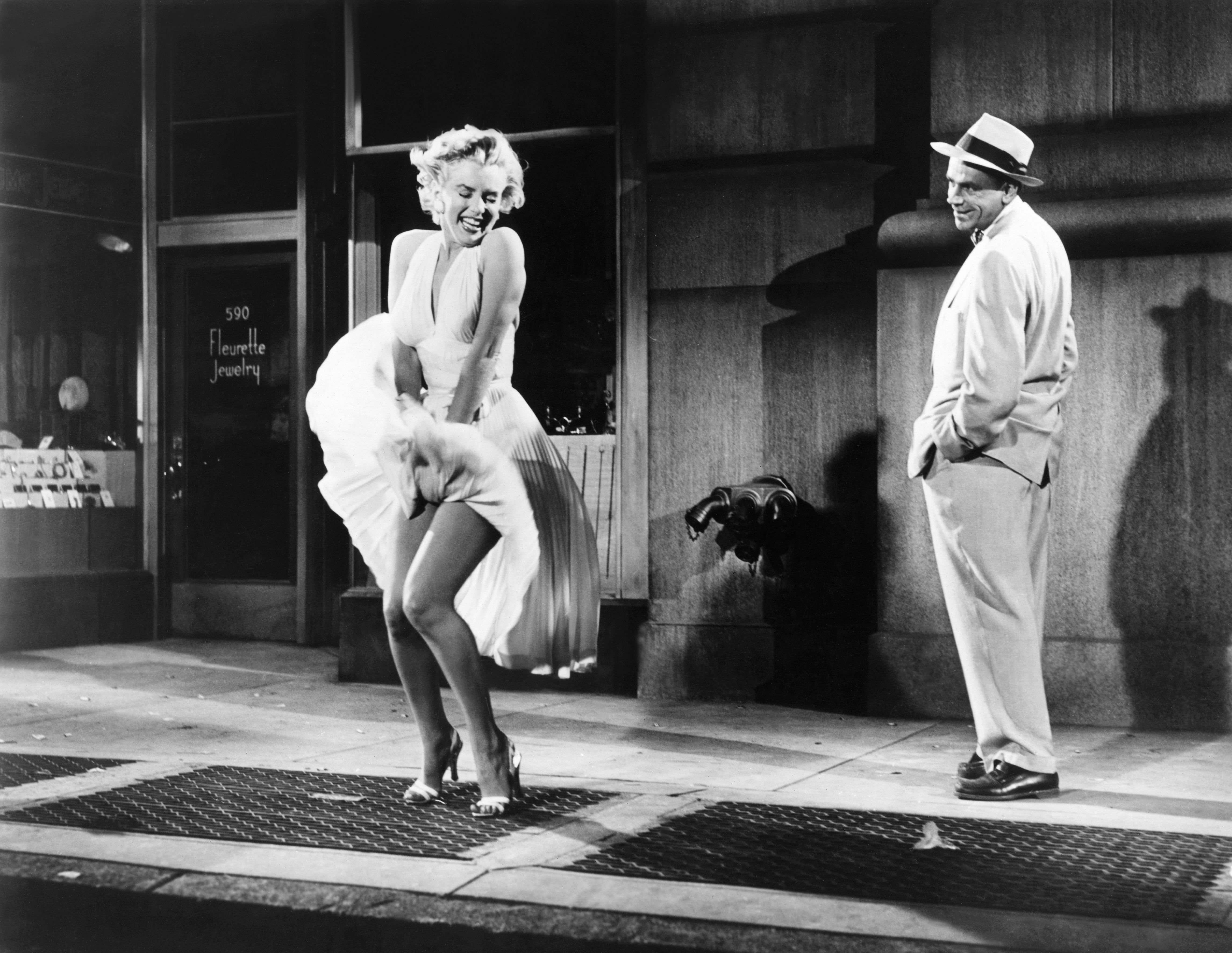 """Marilyn Monroe am Set von """"The Seven Year Itch"""", 1955.   Quelle: Getty Images"""