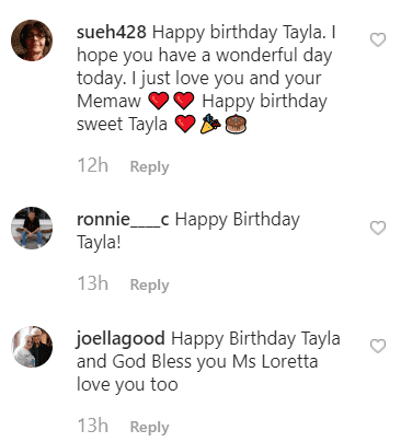 Fan comments on Tayla's repost | Instagram: @taylalynnfinger