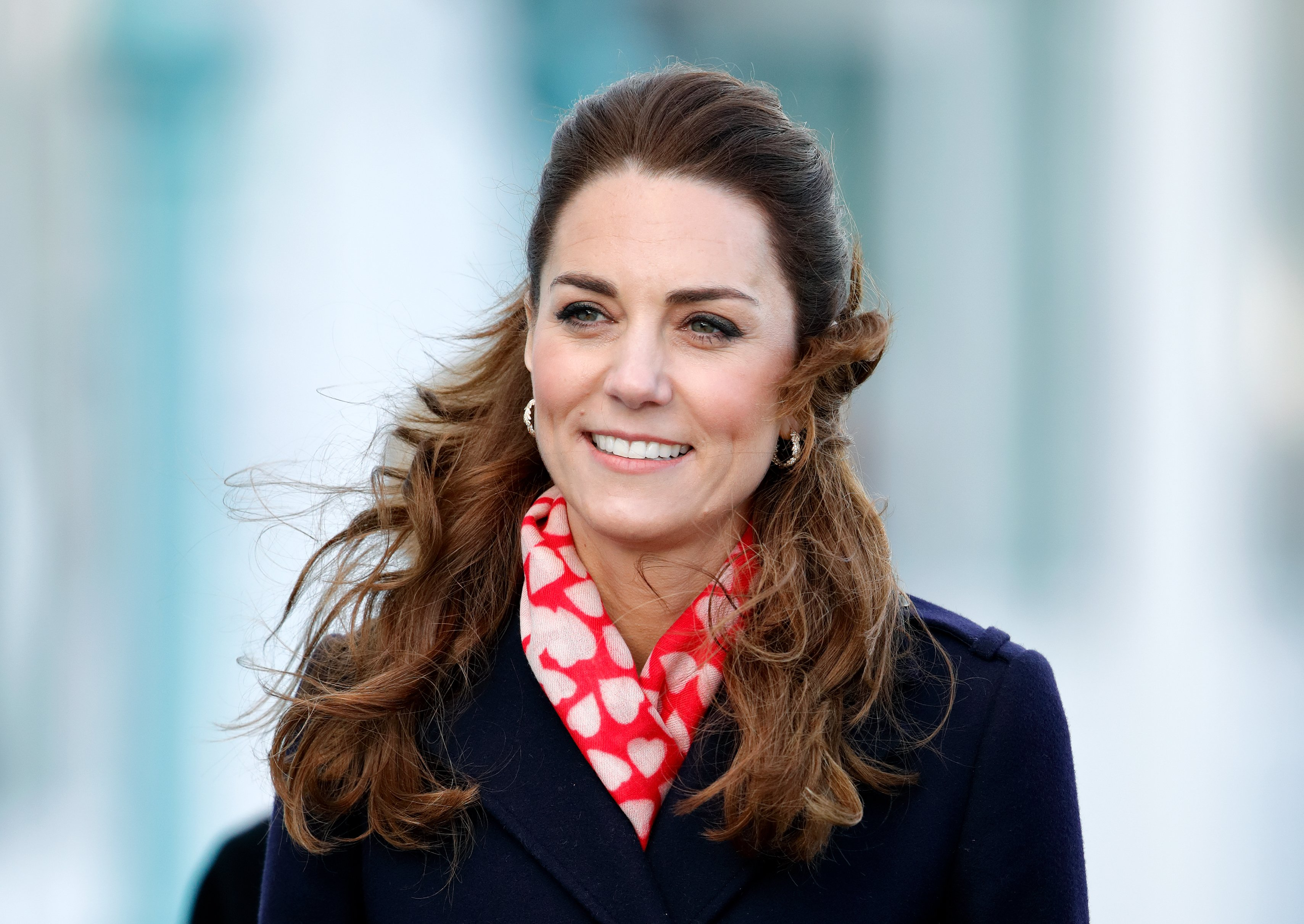 Kate Middleton visits the Royal National Lifeboat Institution (RNLI) Mumbles Lifeboat station on February 4, 2020, in Swansea, Wales. | Source: Getty Images.