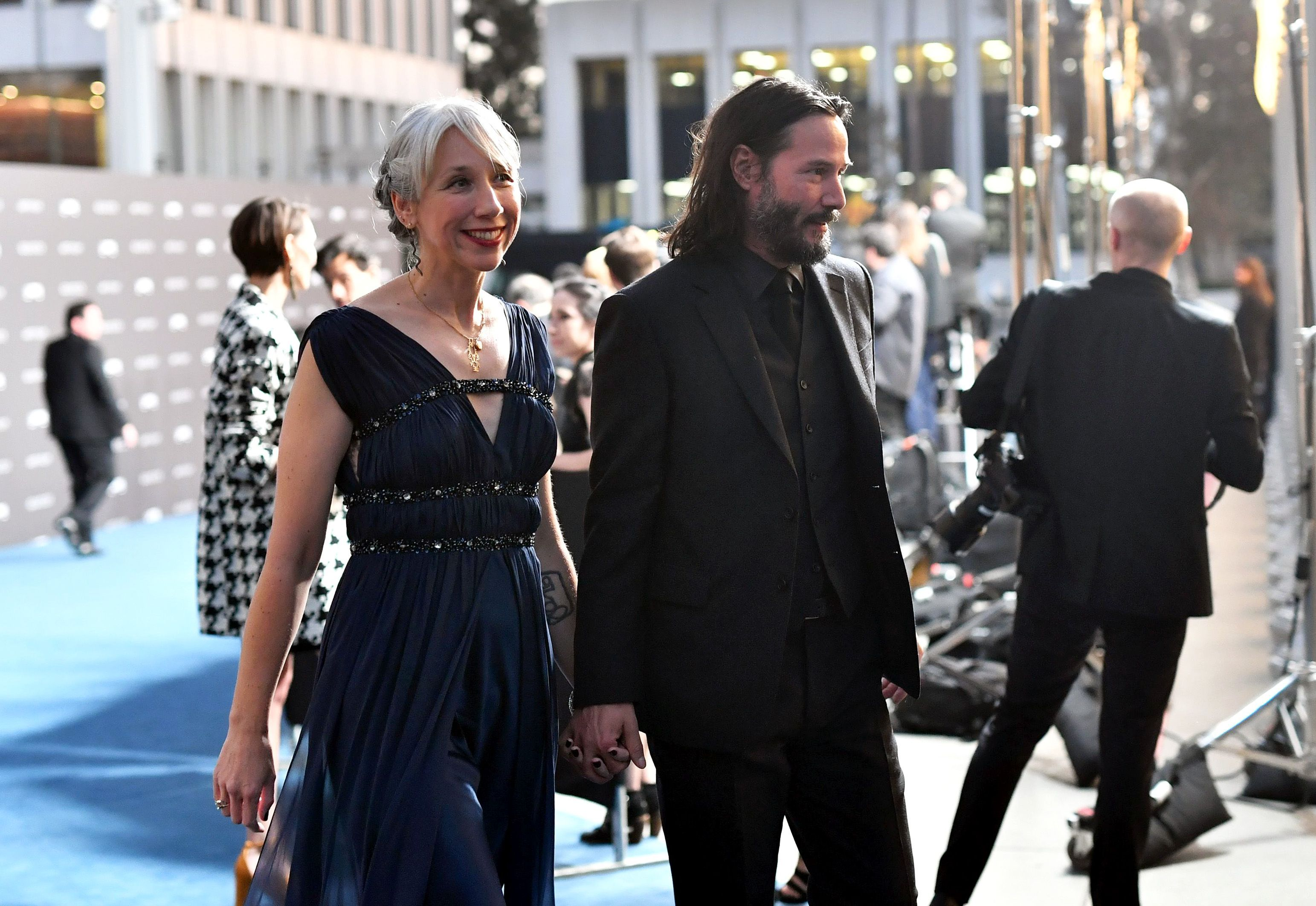 Alexandra Grant and Keanu Reeves attend the LACMA Art + Film Gala in Los Angeles, California on November 2, 2019 | Photo: Getty Images
