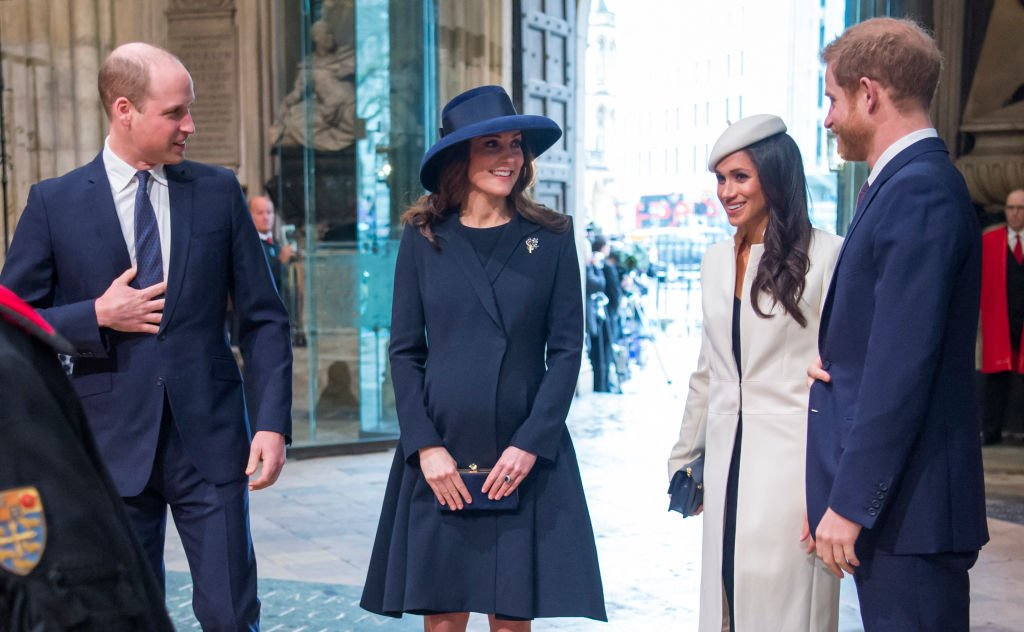 Prince William, Catherine, Meghan Markle and Prince Harry attend a Commonwealth Day Service at Westminster Abbey in central London, on March 12, 2018. | Photo: Getty Images