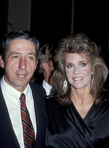 "Tom Hayden and Jane Fonda during ""A Chorus Line"" Los Angeles Screening - December 10, 1985 