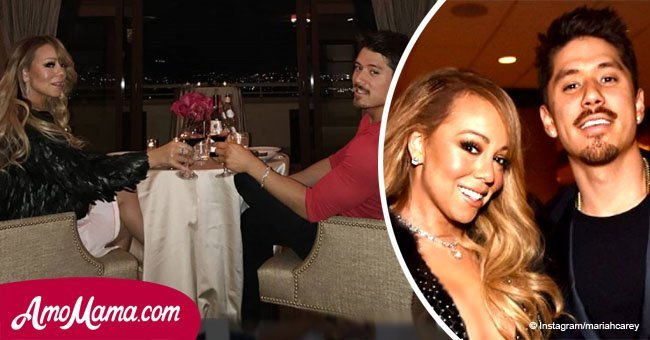 Mariah Carey shares enticing photos of herself rocking a candy bra while her beau is shirtless