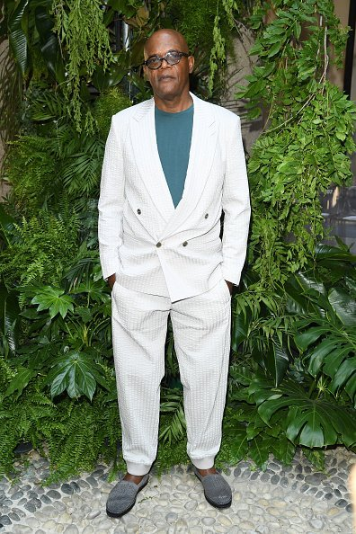 Actor, Samuel L. Jackson at the Giorgio Armani fashion show on June 17, 2019 | Photo: Getty Images