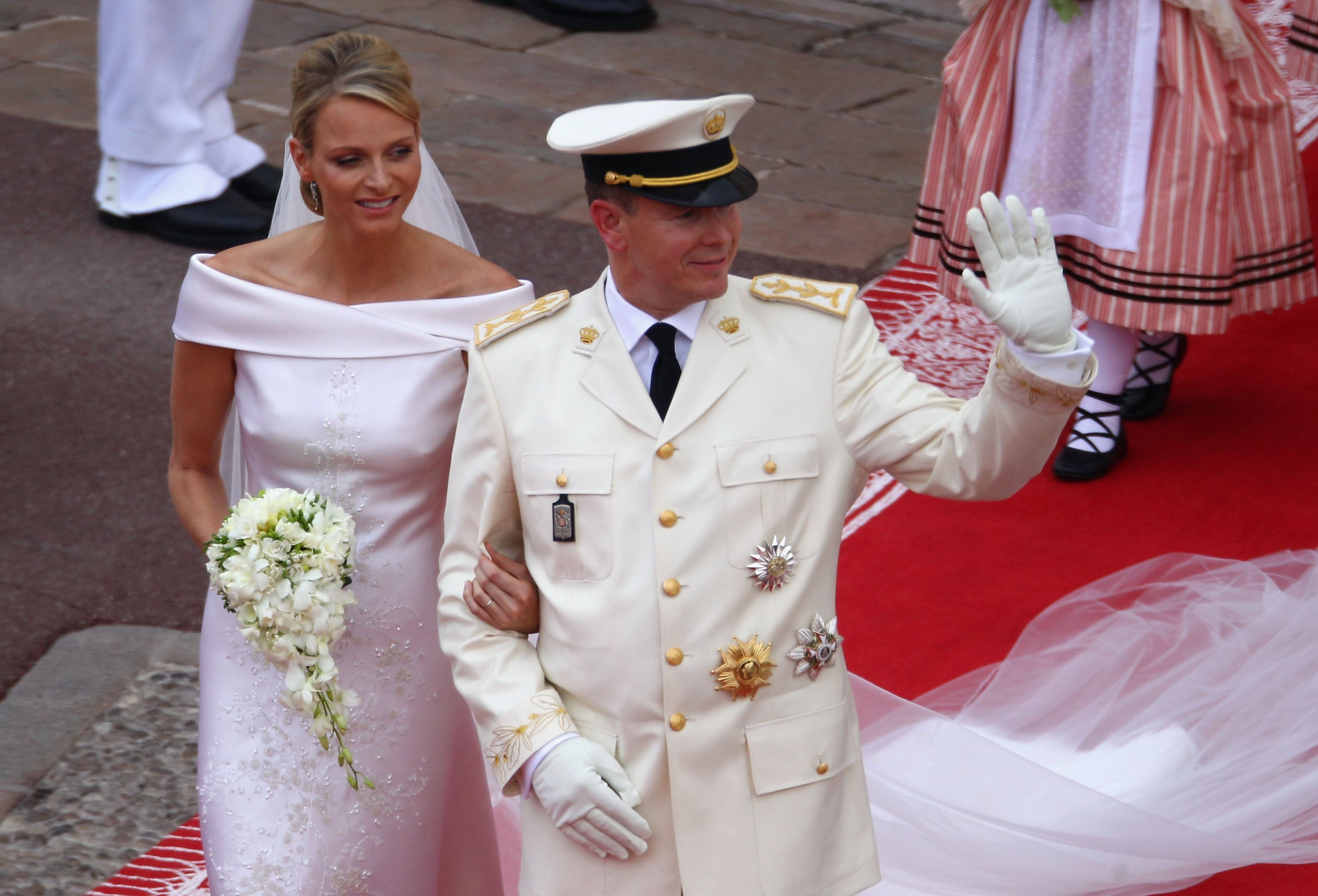 Princess Charlene and Prince Albert II of Monaco on their wedding day, July, 2011. | Photo: Getty Images.