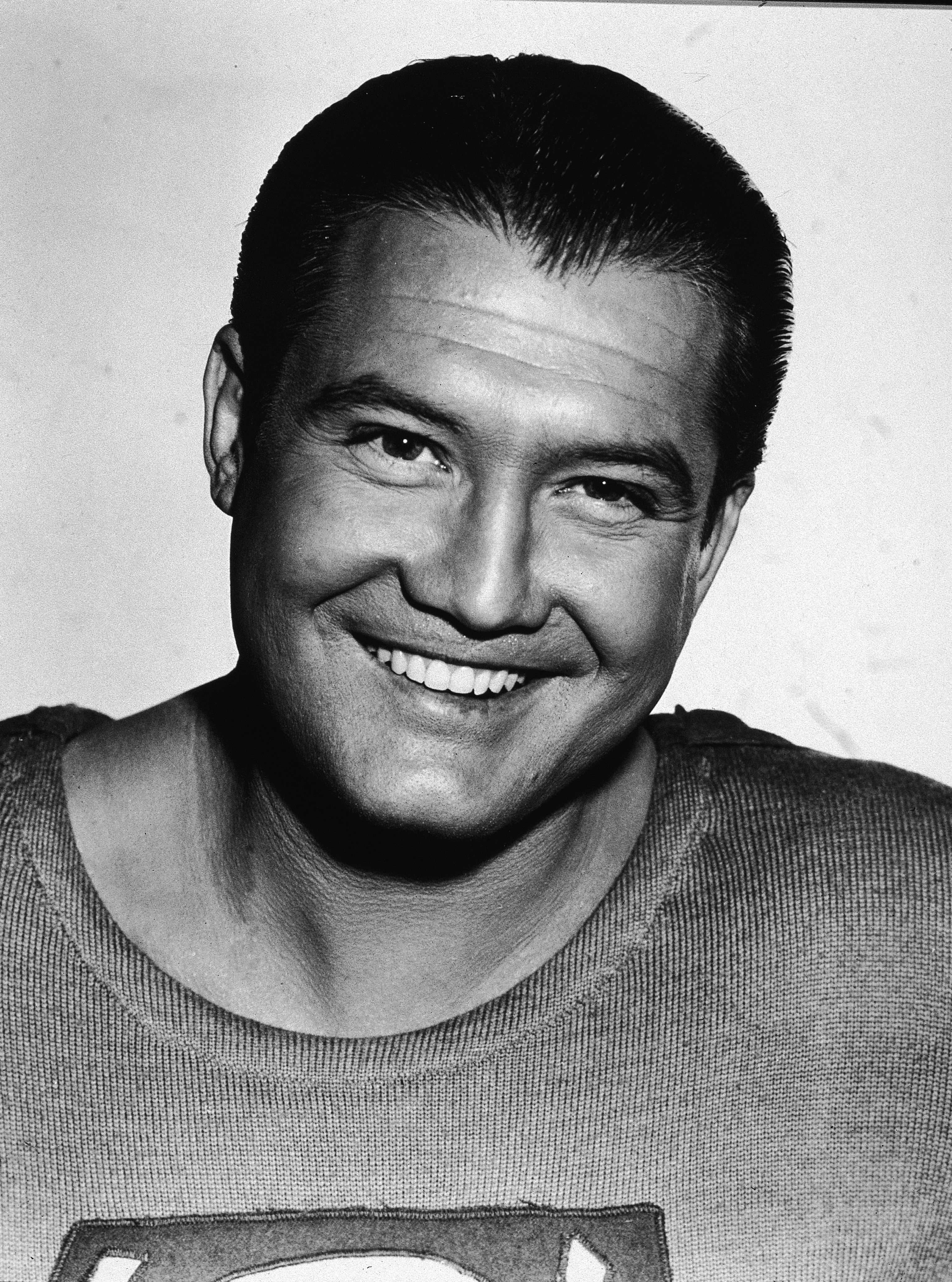 """George Reeves in a promotional portrait while dressed as the star of """"The Adventures of Superman,"""" circa 1952 