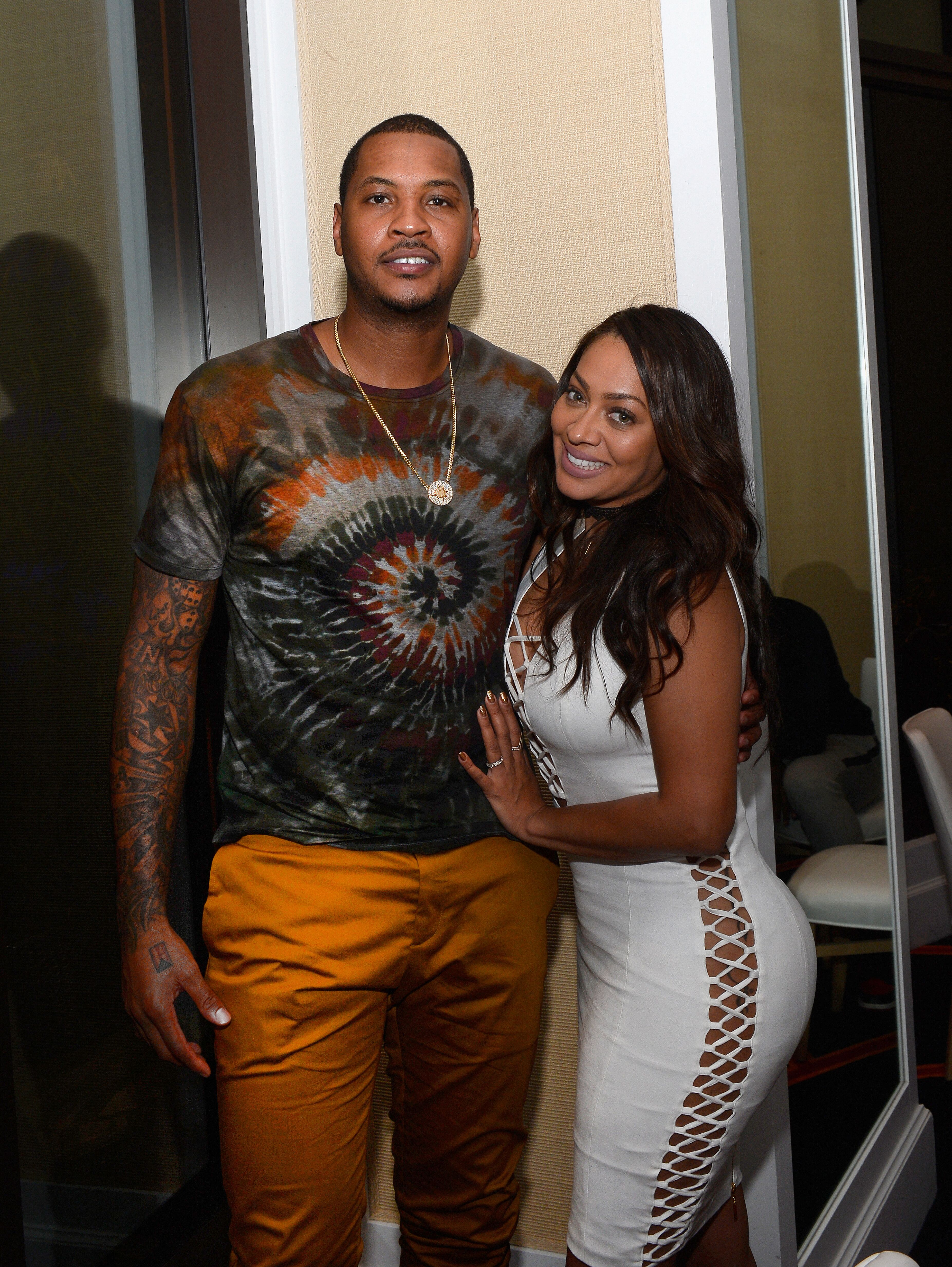 NBA player and 2016 USA Basketball Men's National Team member Carmelo Anthony (L) and his wife radio/television personality La La Anthony attend as he hosts the Team USA welcome dinner at Lakeside at Wynn Las Vegas on July 17, 2016 | Photo: Getty Images
