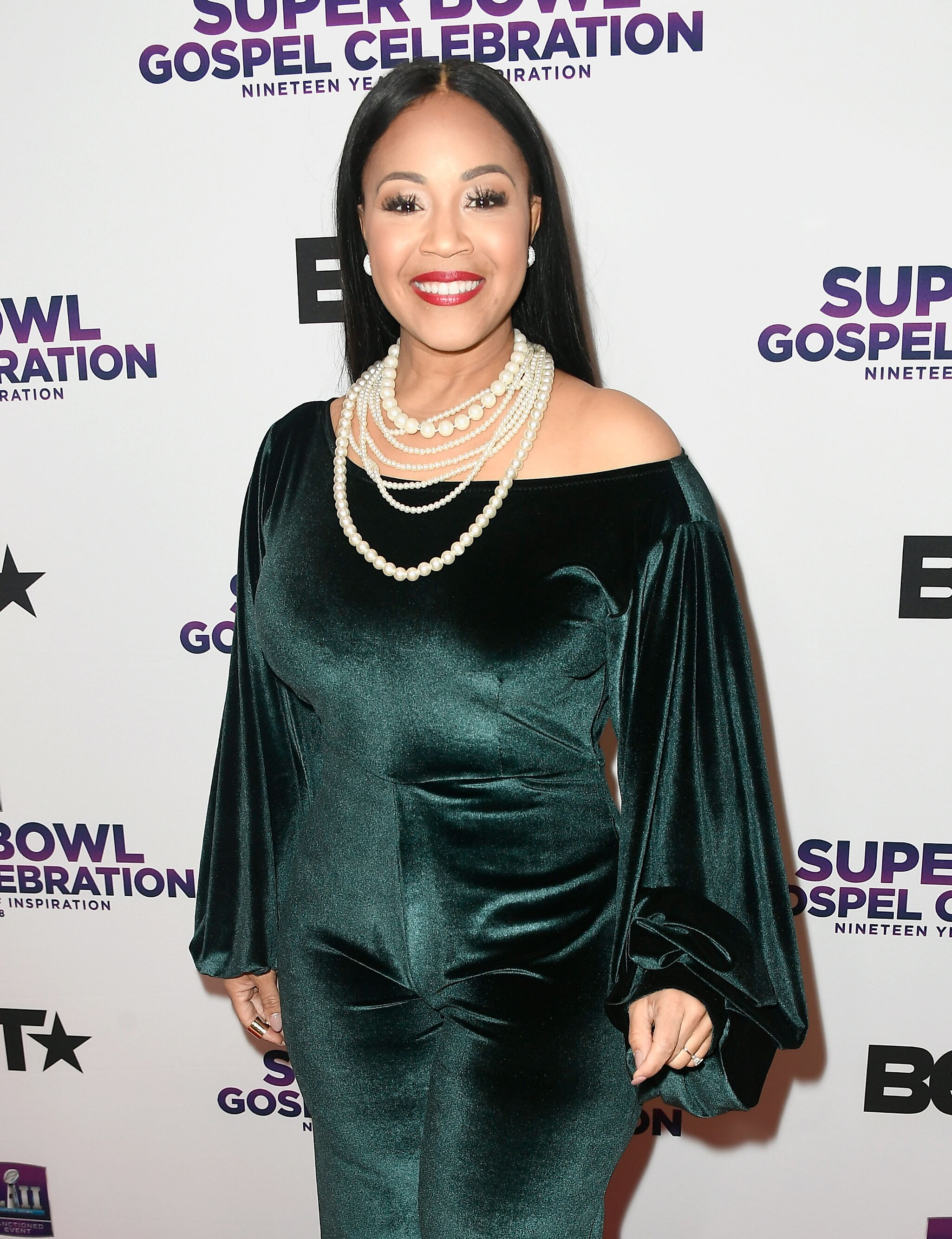 Erica Campbell at BET Presents 19th Annual Super Bowl Gospel Celebration at Bethel University on February 1, 2018 | Photo: Getty Images