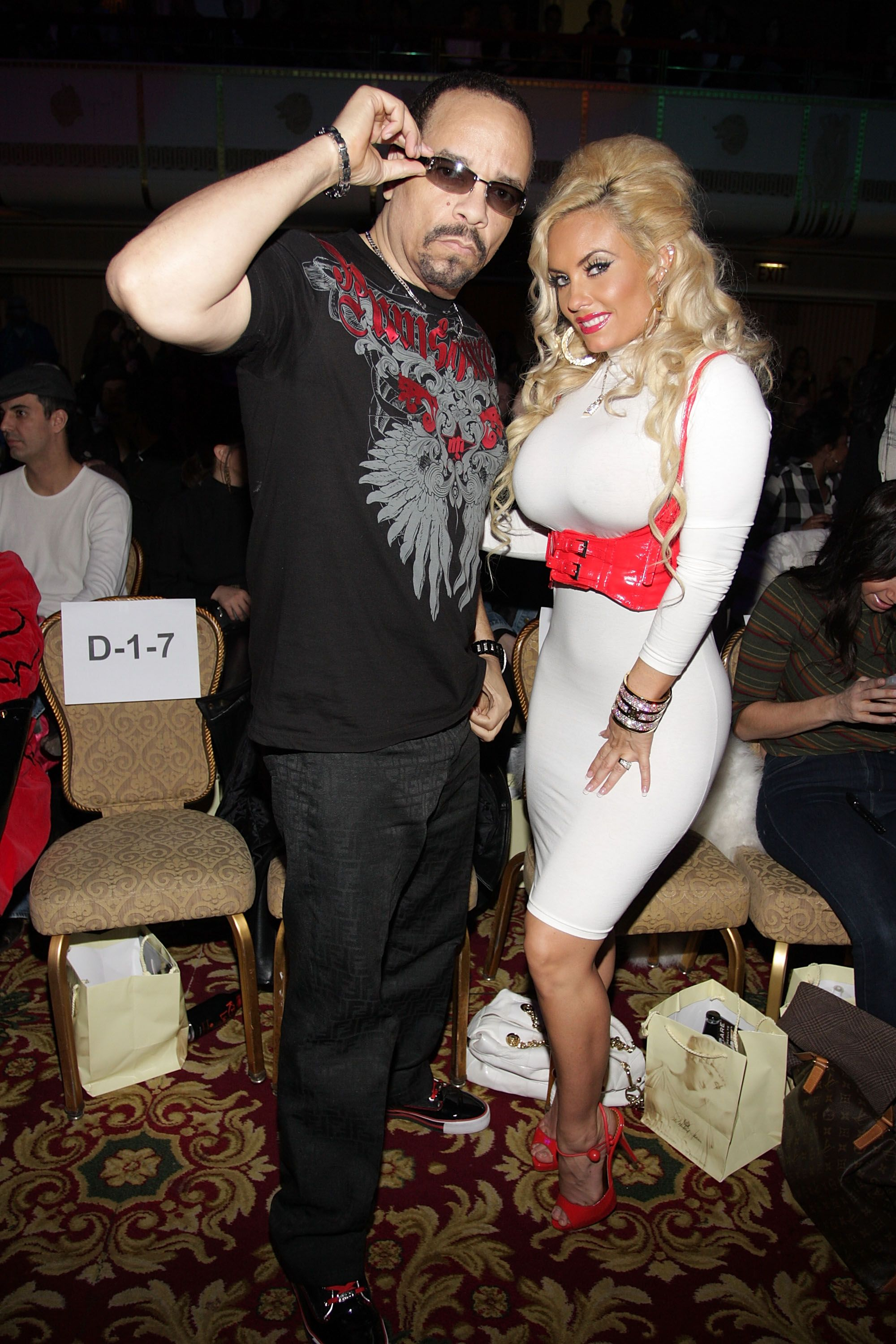Ice-T and CoCo during the Richie Rich Fall 2009 fashion show at the Mercedes-Benz Fashion Week at Waldorf Astoria on February 18, 2009 in New York City. | Source: Getty Images