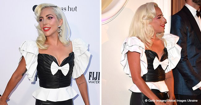 Lady Gaga Is the Epitome of Retro Chic in a $4,370 Leather Top, and All Eyes Are on Its White Bow