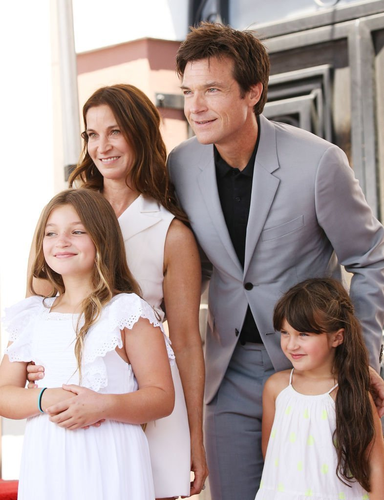 Amanda Anka with Jason Bateman and their daughters on July 26, 2017 in Hollywood, California   Source: Getty Images