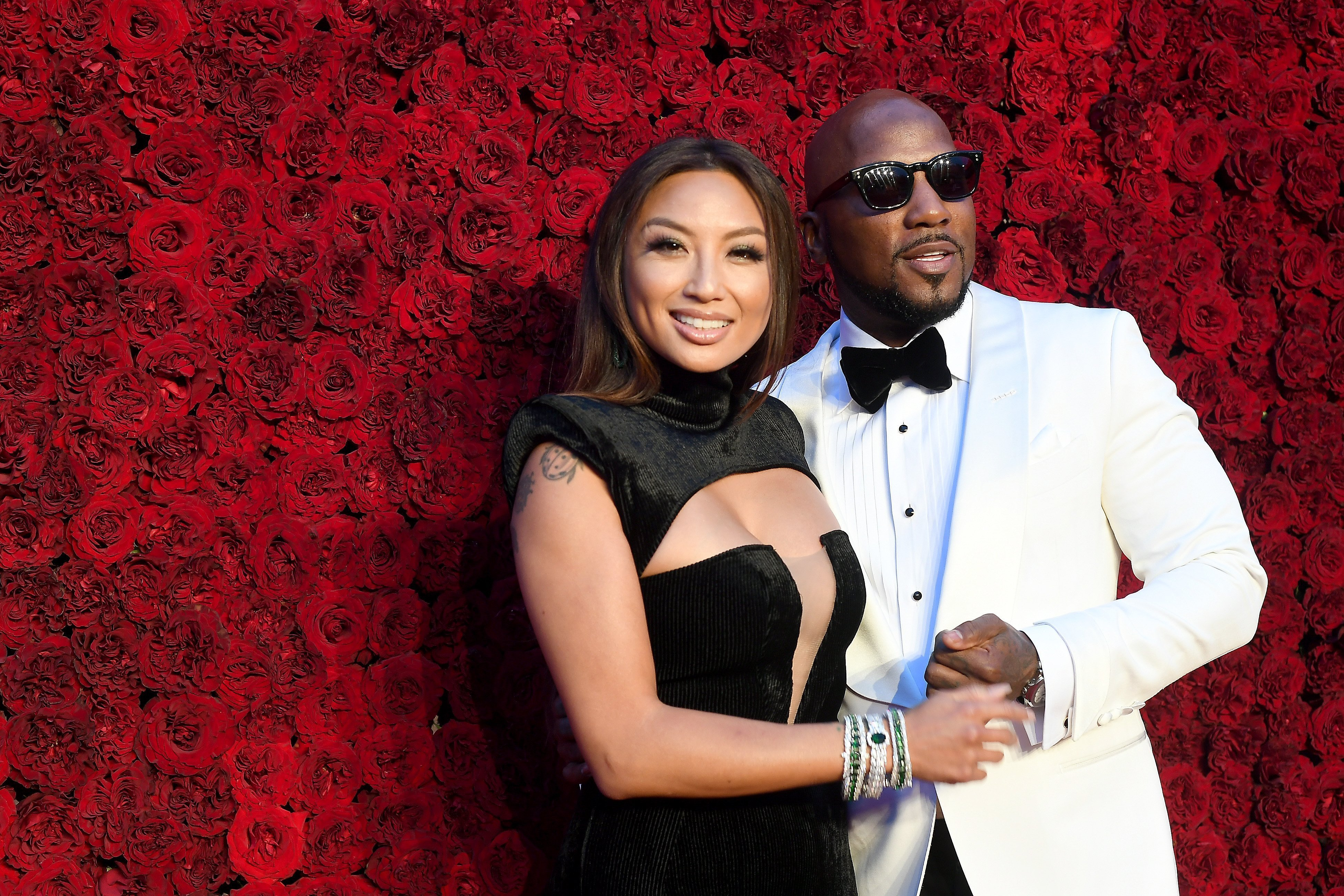 Jeannie Mai and Jeezy attend the Grand Opening Gala of Tyler Perry Studios in Georgia   Source: Getty Images/GlobalImagesUkraine