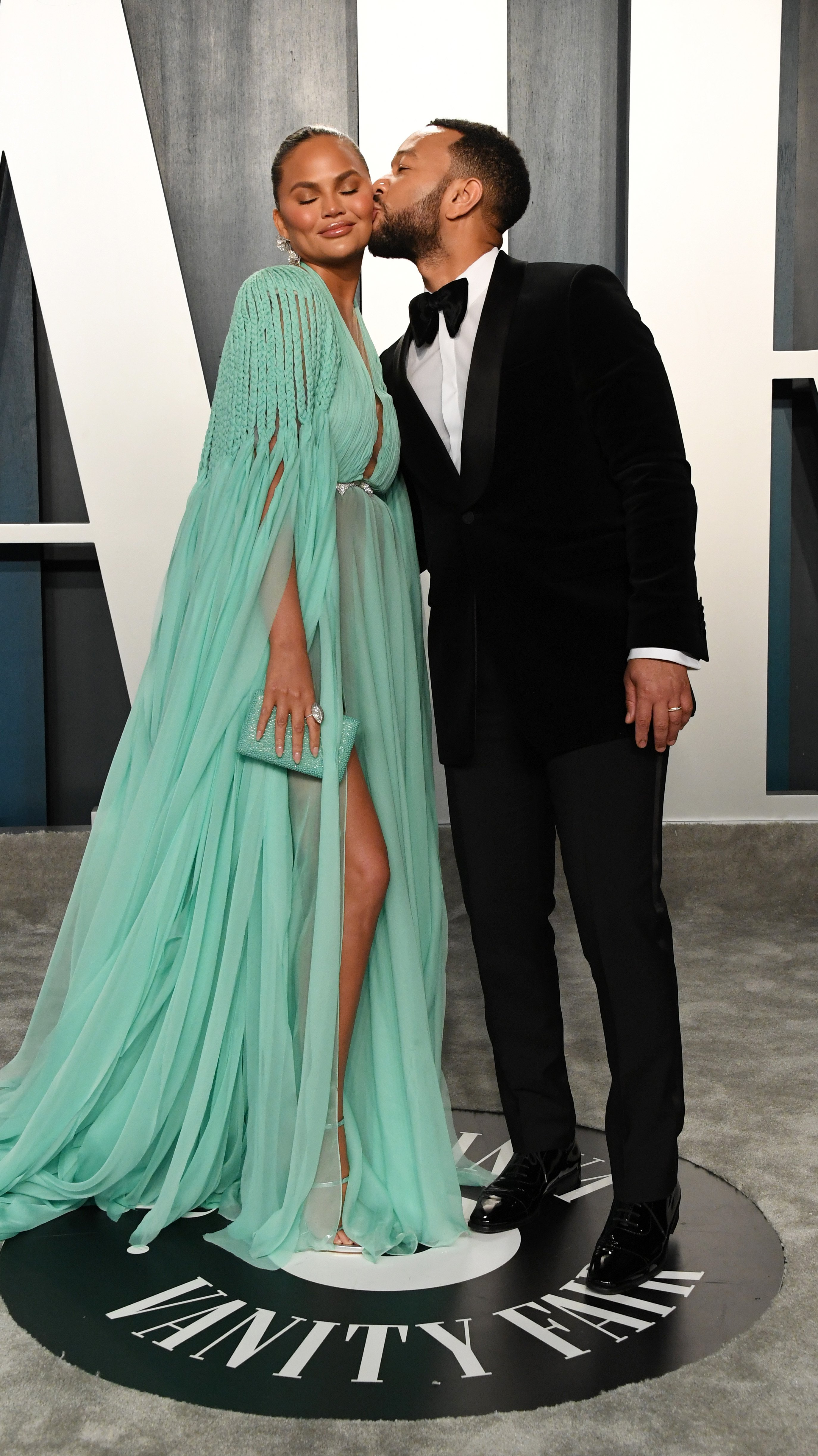Chrissy Teigen and John Legend attend the 2020 Vanity Fair Oscar Party on February 09, 2020, in Beverly Hills, California. | Source: Getty Images.
