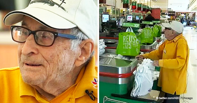 97-Year-Old WWII Veteran Is Proud to Still Be Working at a 'Stop and Shop' Bagging Groceries