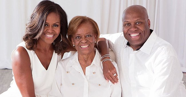 Michelle Obama Opens up about Her Parents & Childhood as She Poses with Her Mother & Brother