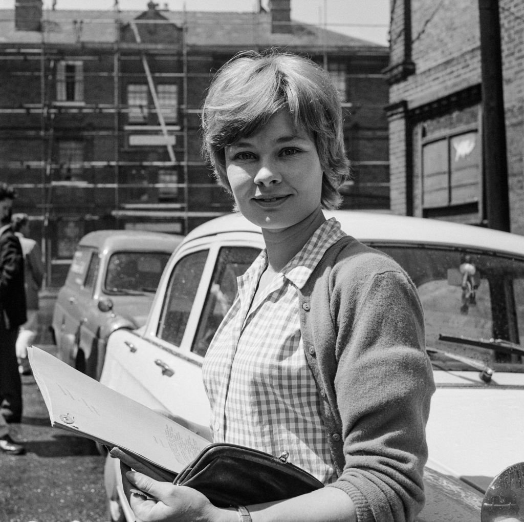 """Judi Dench holding a script of """"Henry The Fifth"""" in which she played Katherine of Valois in 1960 