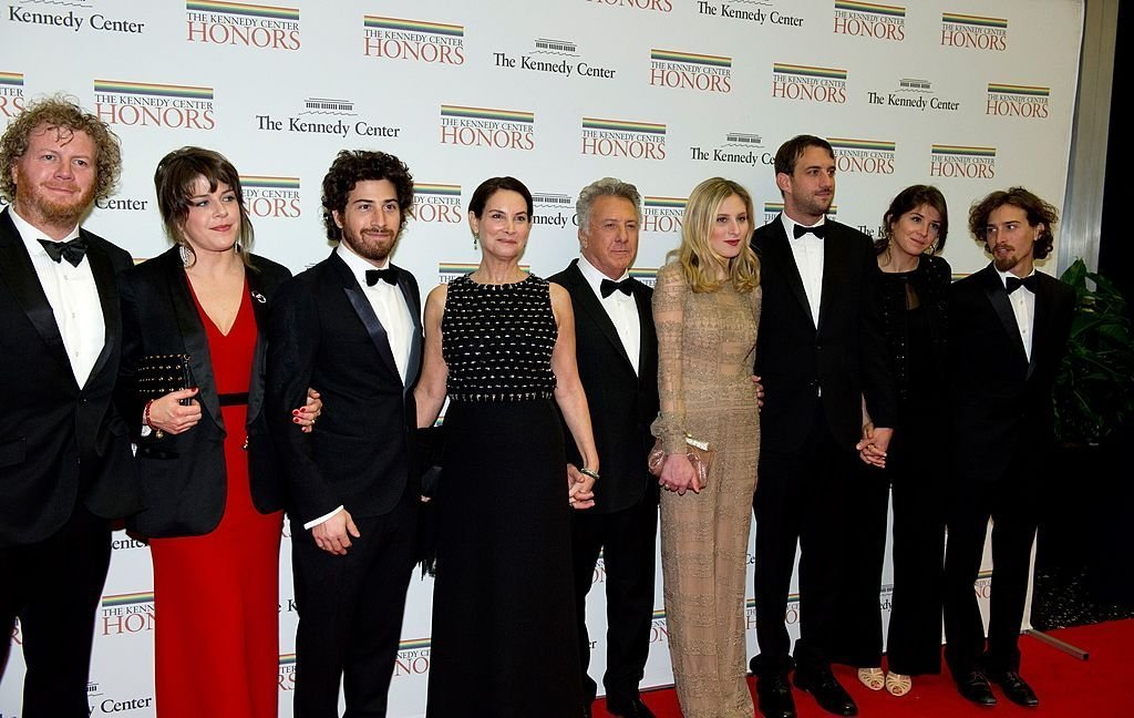Dustin Hoffman arrives with his family for the formal Artist's Dinner honoring the recipients of the 2012 Kennedy Center Honors hosted by U.S. Secretary of State Hillary Rodham Clinton | Getty Images / Global Images Ukraine